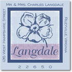 Name Doodles - Square Address Labels/Stickers (Leonie Blue)